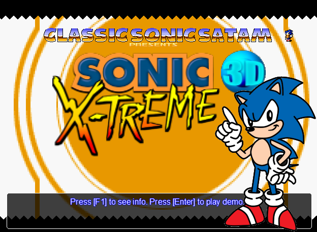 Sonic 3D X-treme Demo1 Release preview by ClassicSonicSatAm