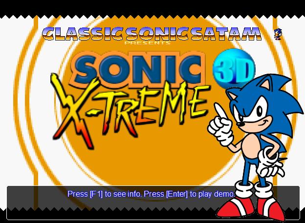 Sonic 3D X-treme Demo1 Release preview by ClassicSonicSatAm