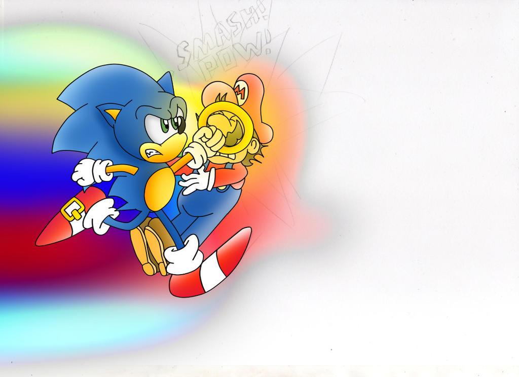 Sonic Smash Bros Move Idea. by ClassicSonicSatAm