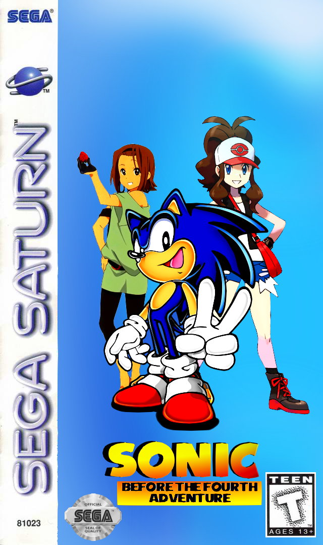 Sonic before the fourth adventure Saturn cover by ClassicSonicSatAm