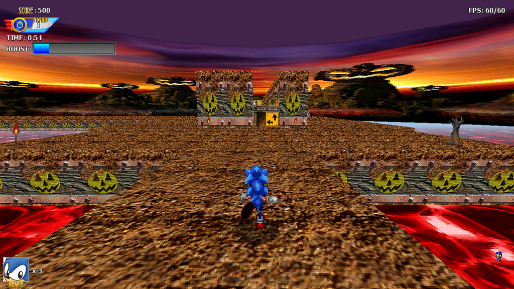 Sonic 3D Halloween Game Preview by ClassicSonicSatAm
