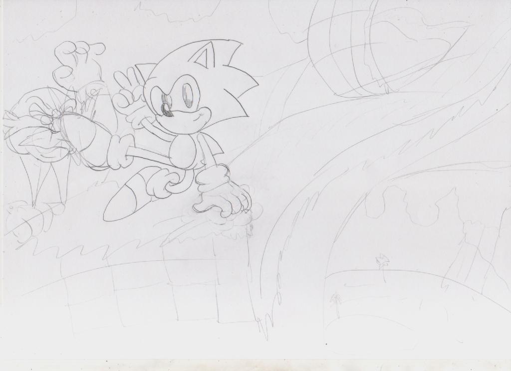 Sonic Lost World Classic Edition Sketch by ClassicSonicSatAm