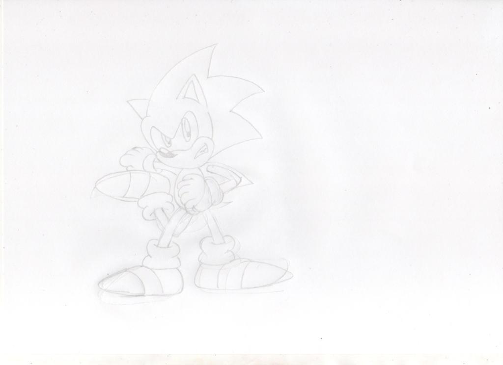 Sonic The 3 legged Hedgehog Sketch by ClassicSonicSatAm