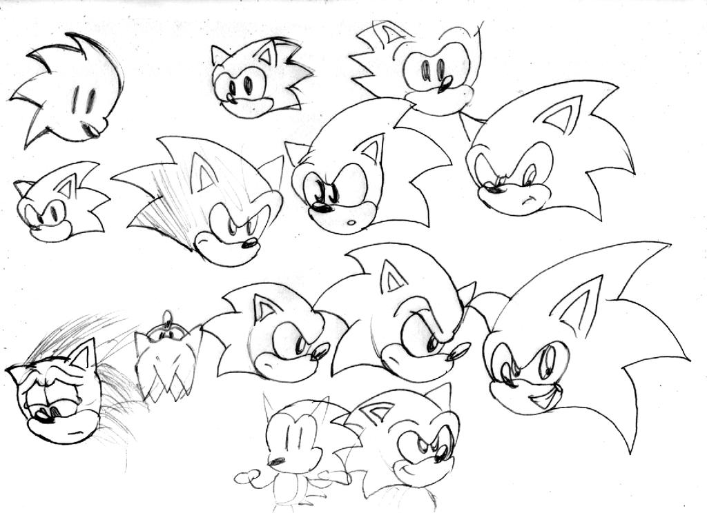 Sonic Heads Doodle by ClassicSonicSatAm