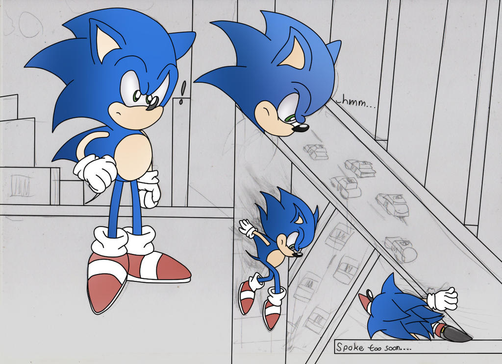 Sonic And Rouge Comic Page test by ClassicSonicSatAm