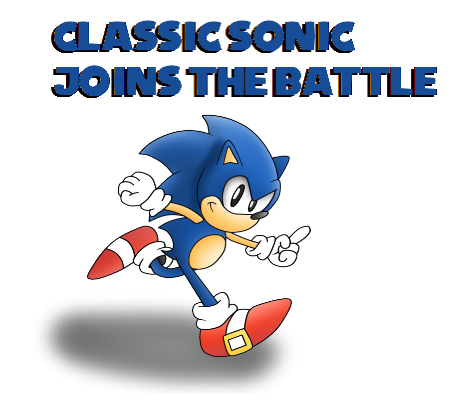 Classic Sonic joins the Smash Battle by ClassicSonicSatAm