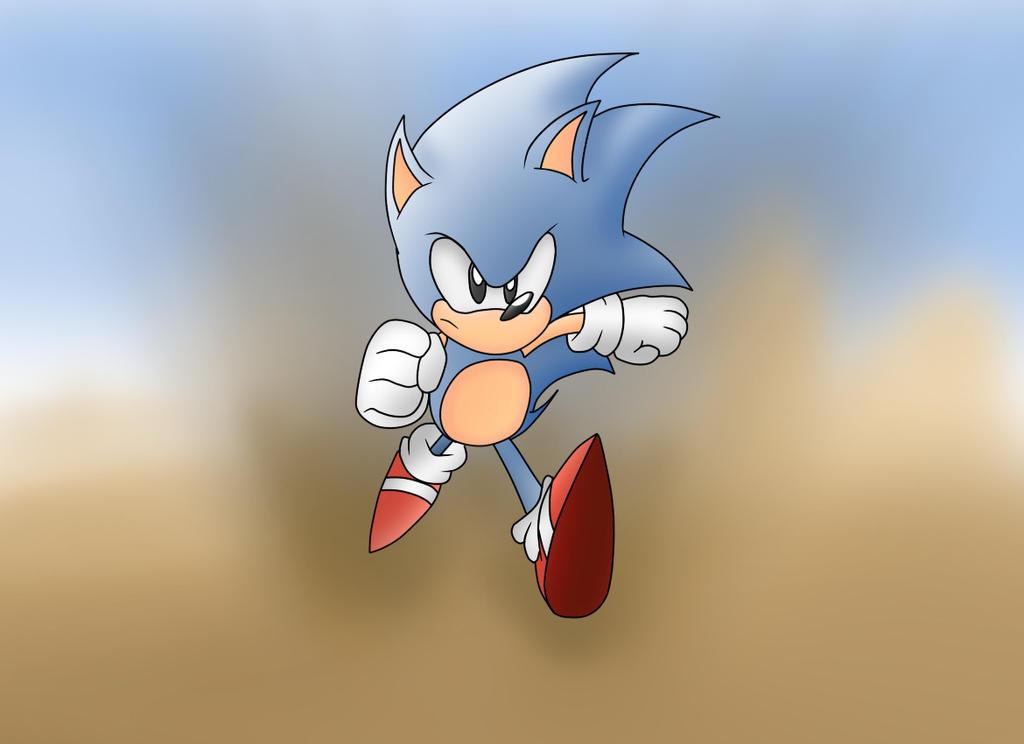 Sonic on the run by ClassicSonicSatAm