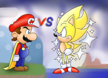 Mario vs Sonic: Dawn of the16 bit War by ClassicSonicSatAm