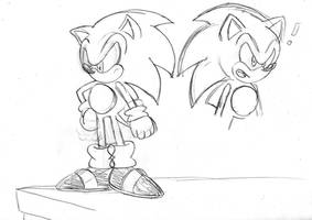 Dreamcast Sonic sketch by ClassicSonicSatAm