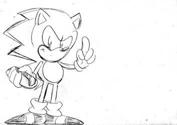 Sonic with the Chili Dog by ClassicSonicSatAm