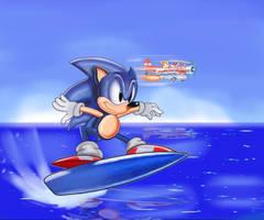Sonic 3 Genesis Surfboarding