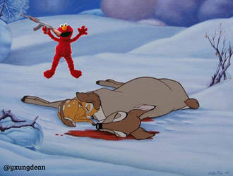 Elmo came with that AK-47