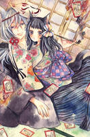 Ayakashi karuta by aloespica109