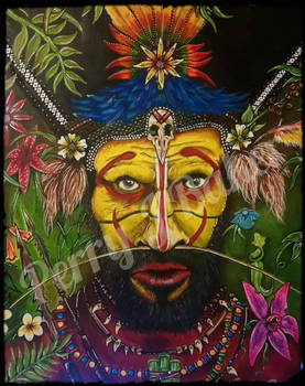 Huli wigman of Papua New Guinea  by depicting-history
