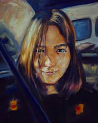 self portrait oil painting by jyacini