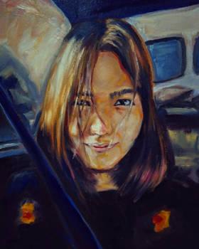 self portrait oil painting