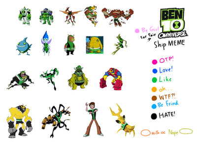 Ben 10 omniverse ship meme ben and aliens by shanya342 on deviantart ben 10 omniverse ship meme ben and aliens by shanya342 voltagebd Choice Image