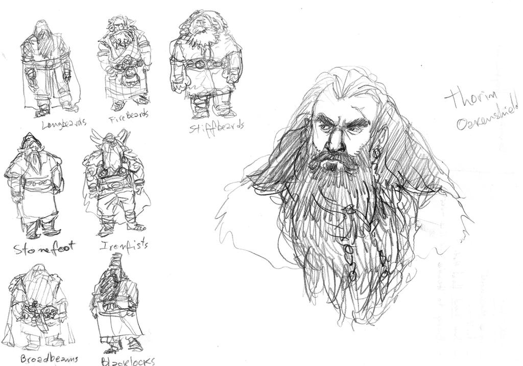 Lotr Thorin and The Dwar Clans by Artigas
