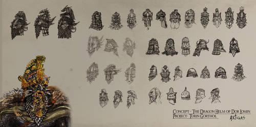 Dwarven Helmets and Masks by Artigas
