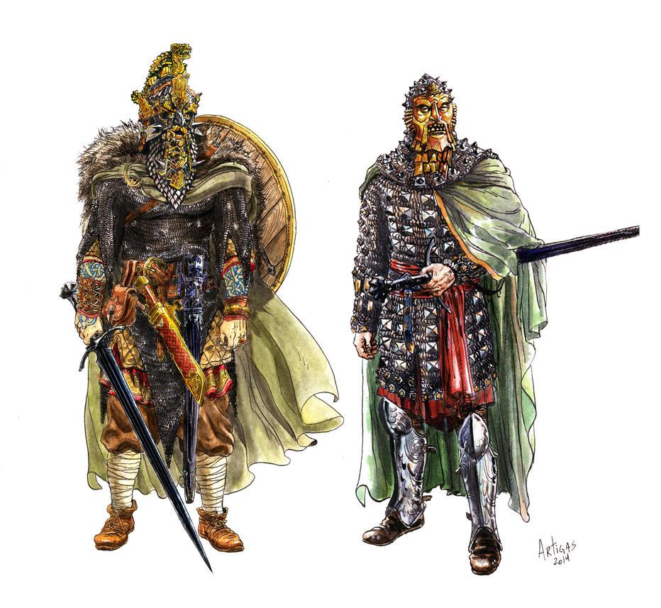 Gorthol and Mormegil by Artigas
