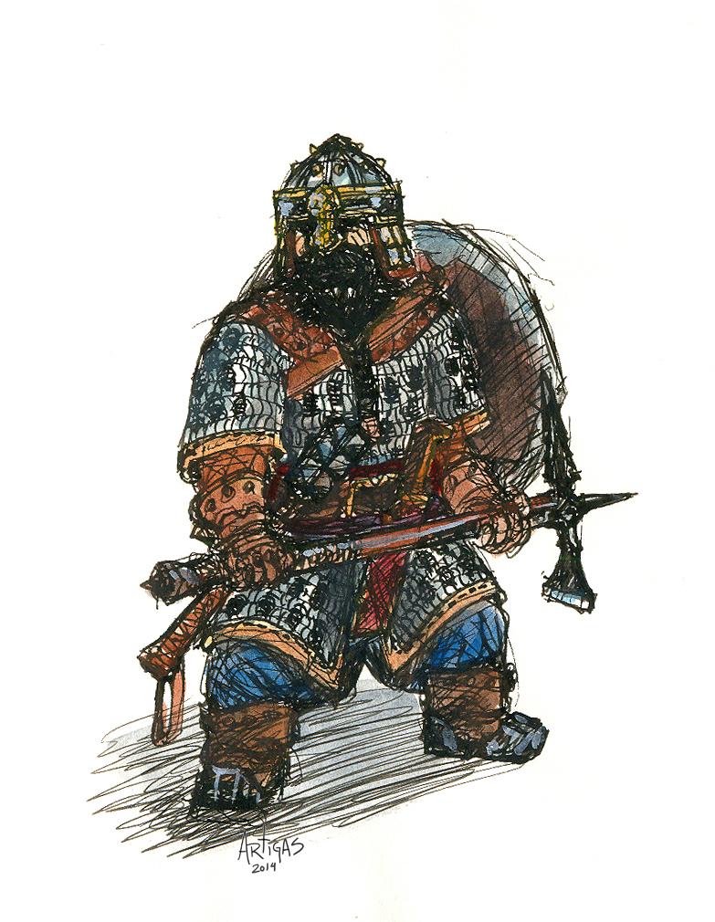 Dain's Army Warrior by Artigas