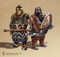 Dwarven Warriors by Artigas