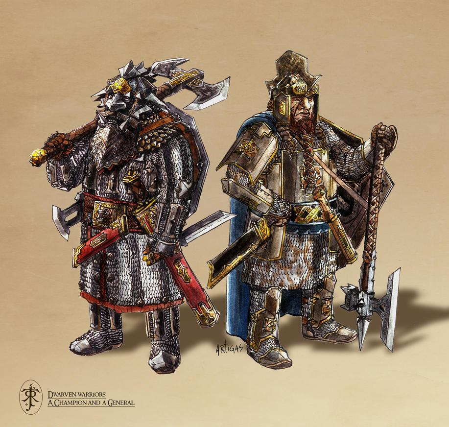 Dwarven Upper Class Warriors by Artigas