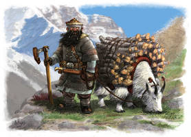 DWARVEN MOUNTAINEER by Artigas