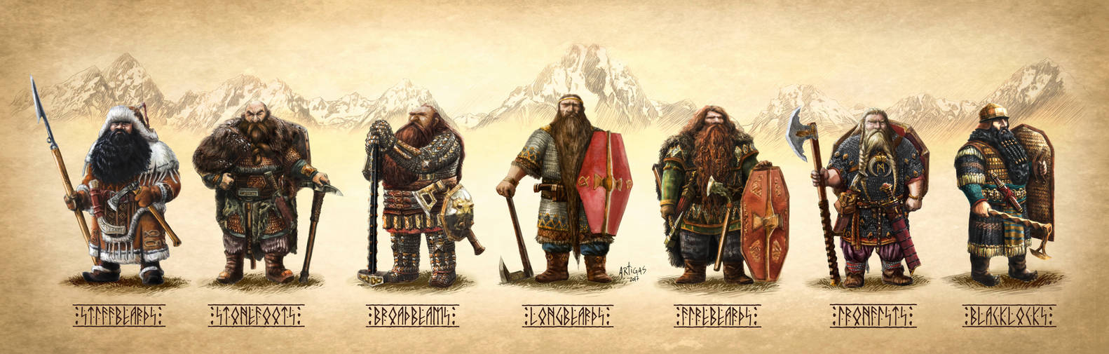 The seven houses of the Khazad