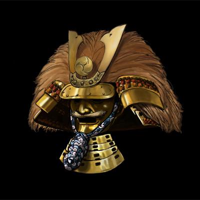 Samurai Kabuto by Artigas