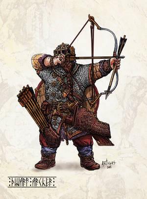 Dwarf Archer by Artigas
