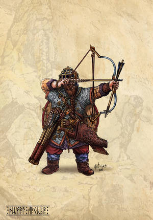 Dwarf Archer by Artigas