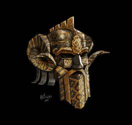 Dwarven regal helm by Artigas