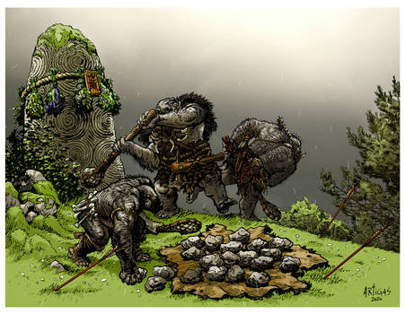 Orc stone lobbers
