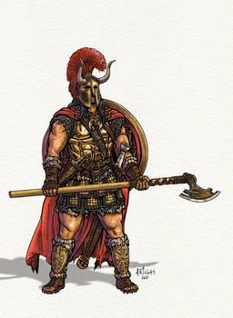 Bronze age fantasy barbarian