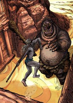 Dark Elven David and Ogre Goliath
