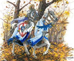 The mighty ride of a paladin by Artigas