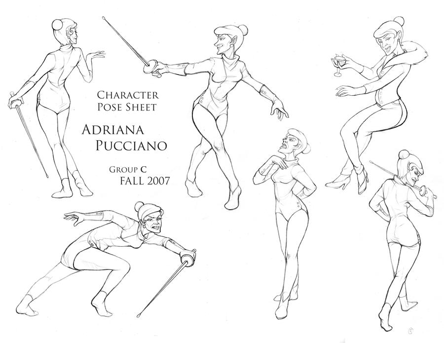 Dynamic Character Design Definition : Character pose assignment by ichigokura on deviantart