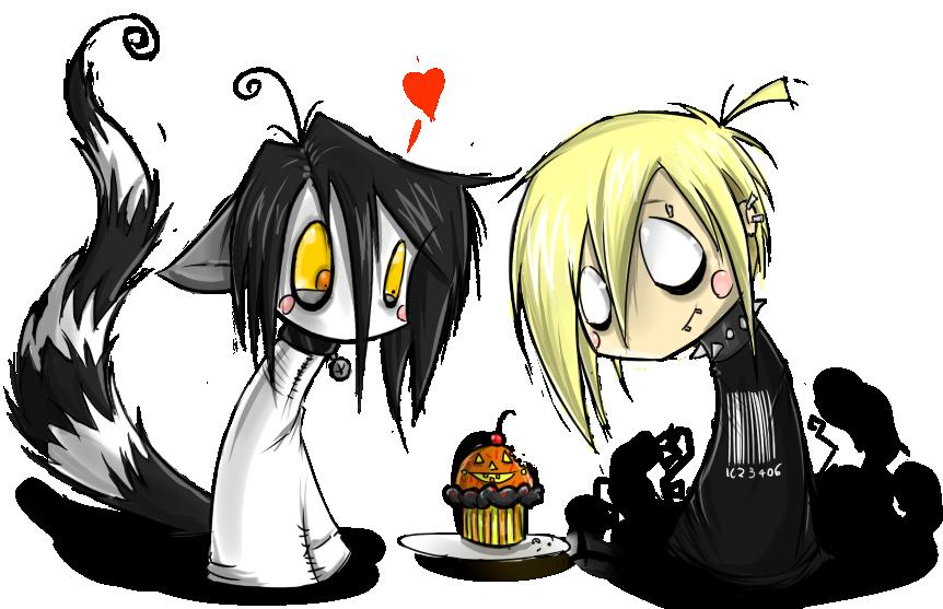 Chibi Riku And Matt Cupcakes By BlackVirusVoid-boy On