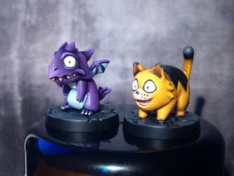 SDE Pets - Mr Chompy and Admiral Fuzzybottom by Reallybigfish