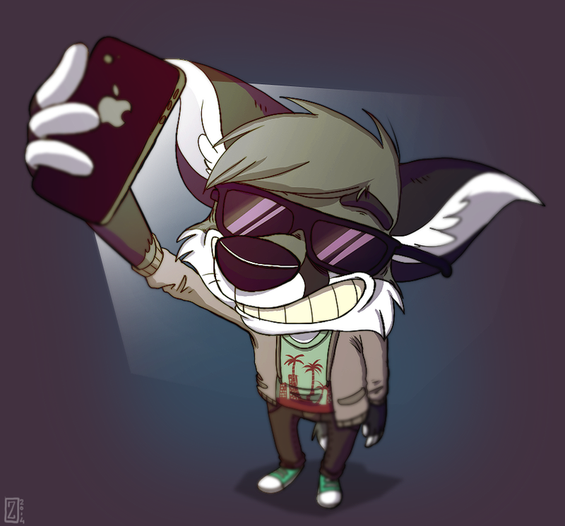 But first, let me take a selfie by Zerda-Fox