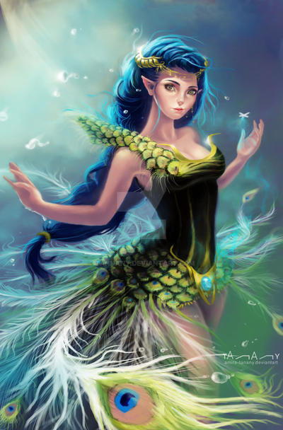 peacock lady by Tannany