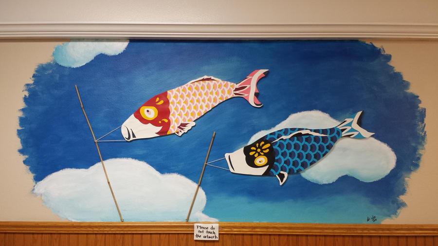 Sushi Hama Koi Fish Flags by San-sen