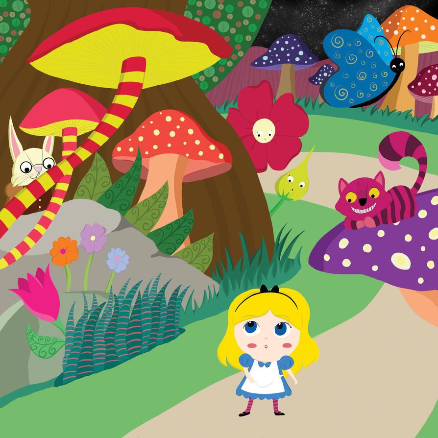 Alice In Wonderland by violetametalico