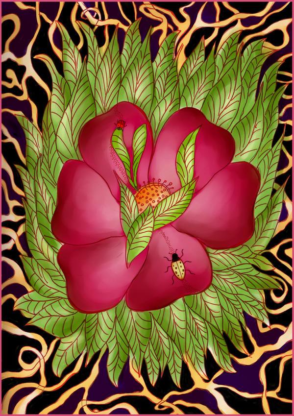 Flor en la Enredadera by violetametalico