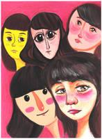 Faces by violetametalico