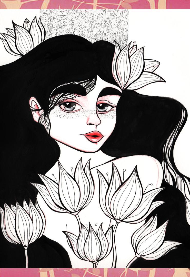Entre flores by violetametalico