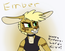 Ember (Lord-Kiyo's Birthday) by FoxyMangleBreegull