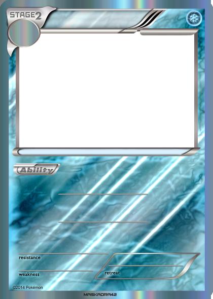 Stage 2 Ice - Blank Card Holo by Maskadra42