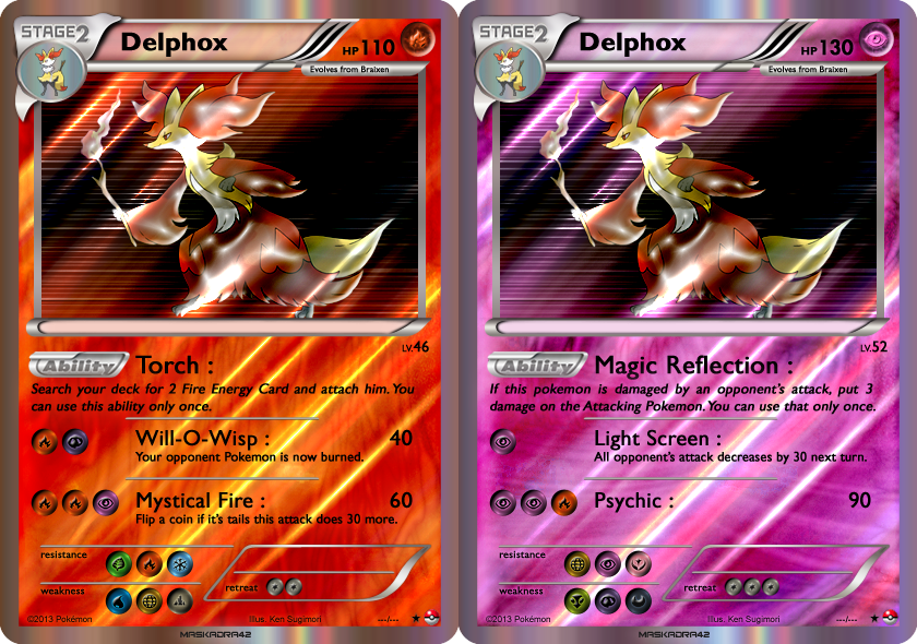 Delphox Mega Ex Pokemon Cards Images | Pokemon Images